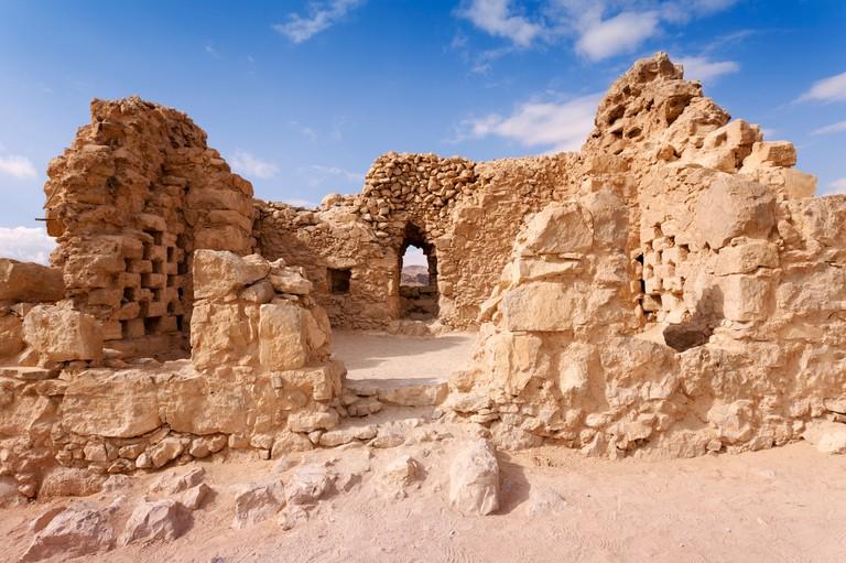 Israel, Masada fortress, the dovecote at Masada