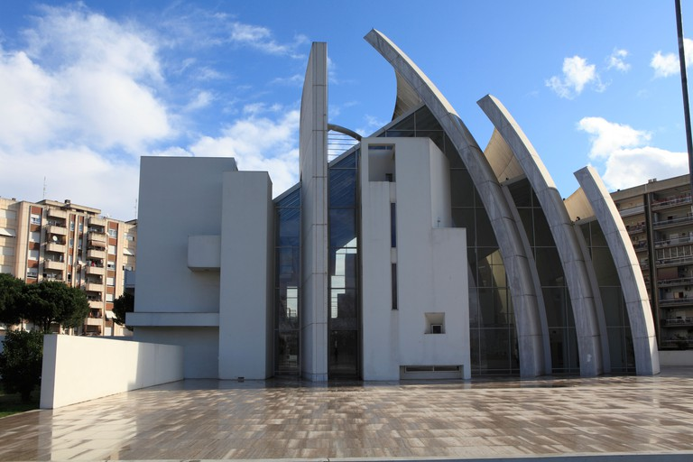 Church of Dio Padre Misericordioso, by Archtect Richard Meier, Tor Tre Teste, Rome, Italy