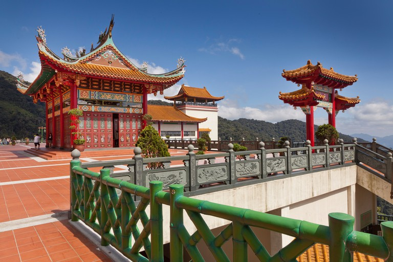 Chinese pagoda styled architecture, Chin Swee Cave Temple, Genting Highlands, Malaysia.