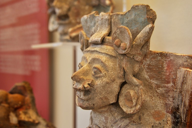 CR56J0 Pre-Hispanic ceramics in the museum of the excavation site of the Pyramid of Cholula, , Mexico, Latin America, North America