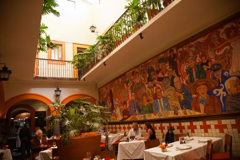 El Mural De Los Poblanos Restaurant in Puebla - Mexico