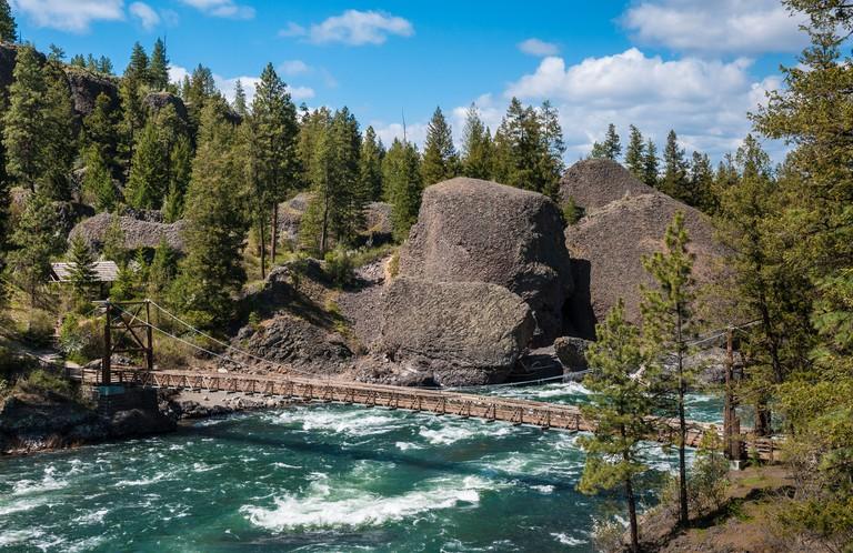 Spokane River at Bowl & Pitcher area of Riverside State Park; Spokane, Washington.