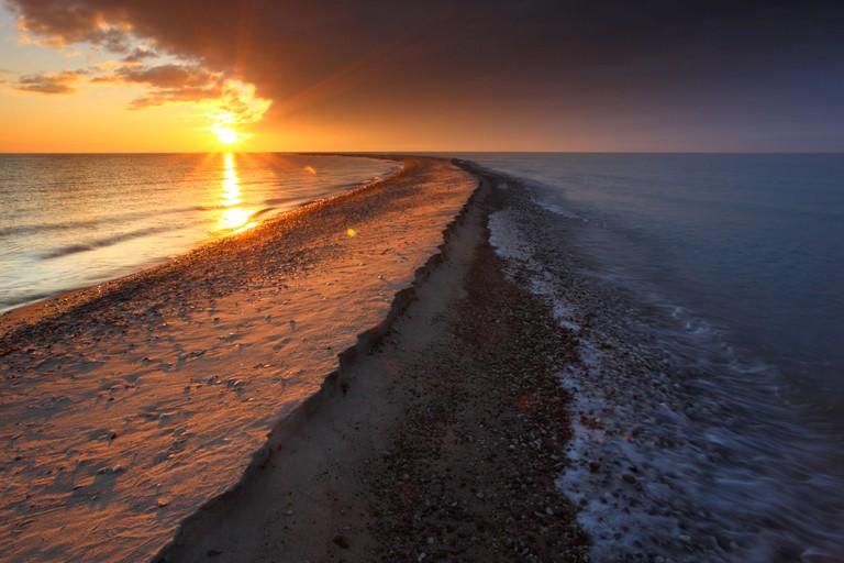 Sunset at Harilaid peninsula, Vilsandi National Park, Saaremaa island, Estonia