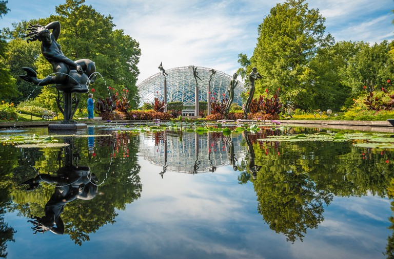 The Climatron at the Missouri Botanical Garden in St. Louis, Missouri, United States of America
