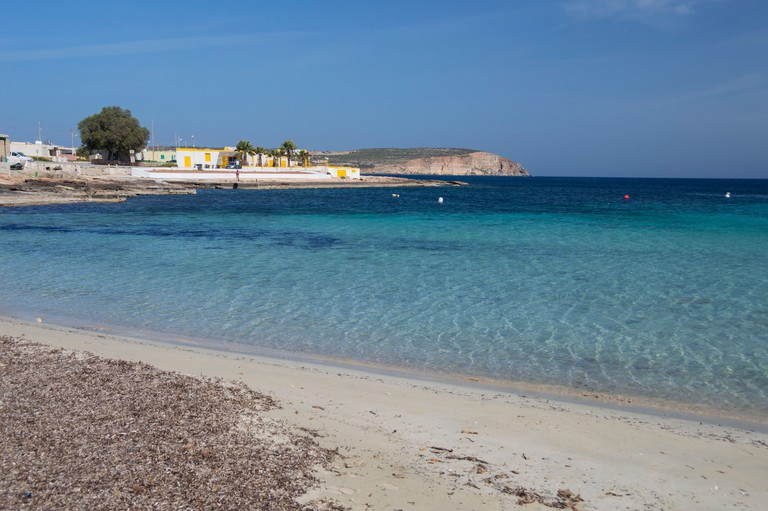 Armier Bay Palm beach  Malta. Image shot 2014. Exact date unknown.
