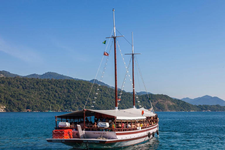 Brazil Rio de Janeiro state the Costa Verde Ilha Grande an island at 1 hour by boat from Angra dos Reis
