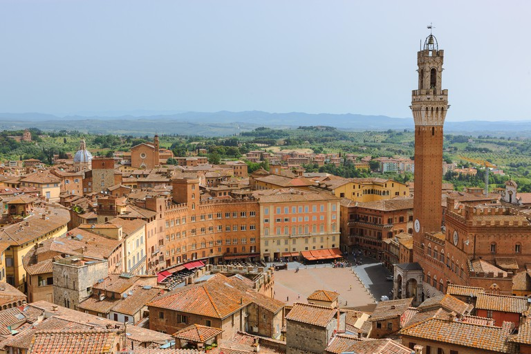 View from the top of Il Museo dell'Opera del Duomo, considered the best observation point in Siena