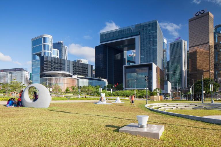 Tamar Park and Central Government Complex, Admiralty, Hong Kong Island, Hong Kong