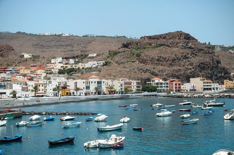 Harbor of Playa de Santiago / La Gomera / Canary Islands/ Spain