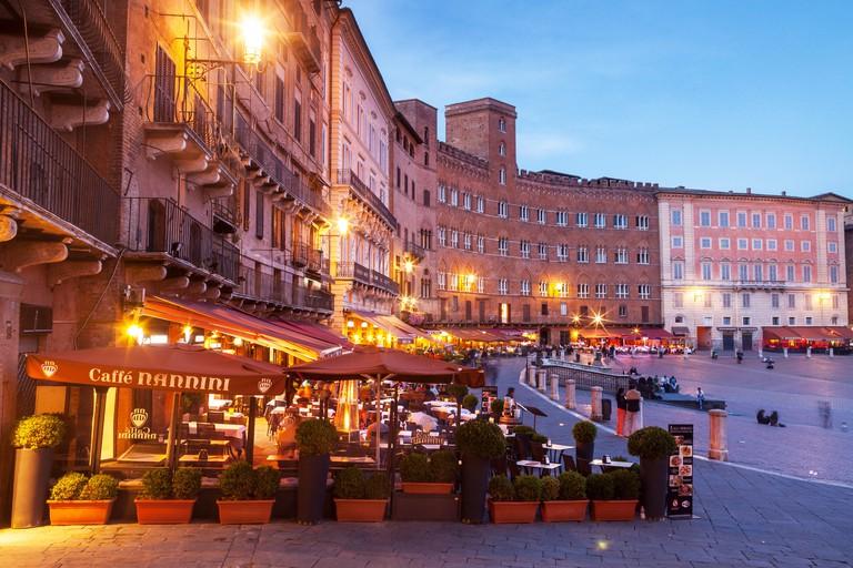 EA314M Piazza del Campo, UNESCO World Heritage Site, Siena, Tuscany, Italy, Europe