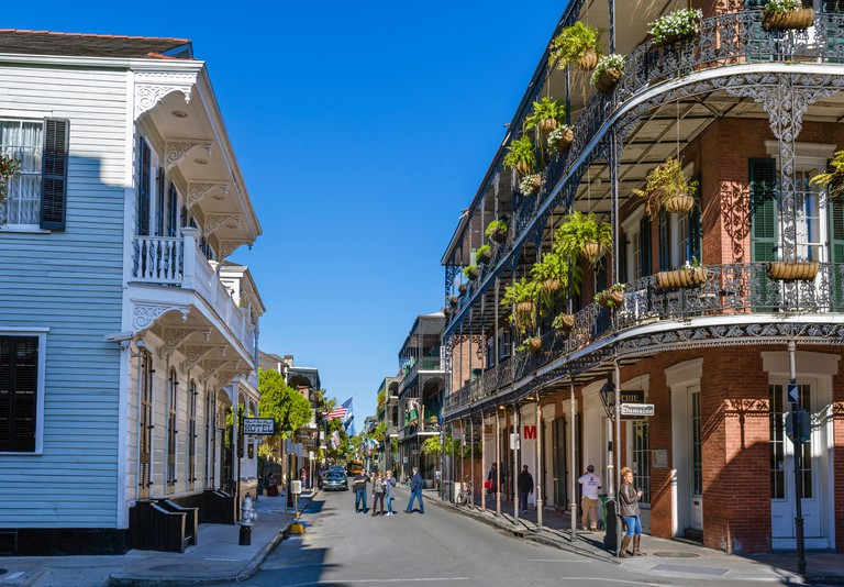 Royal Street at the intersection with Dumaine Street, French Quarter, New Orleans, Louisiana, USA