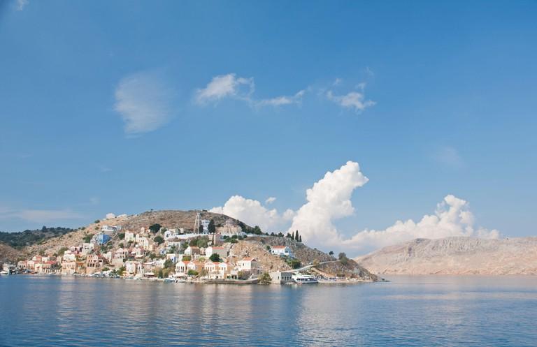 The Greek Mediterranean island of Symi.