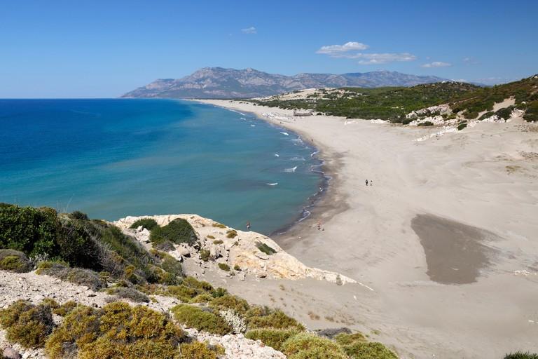 Patara beach, near Kalkan, Lycia, Antalya Province, Mediterranean Coast, Southwest Turkey, Turkey, Asia