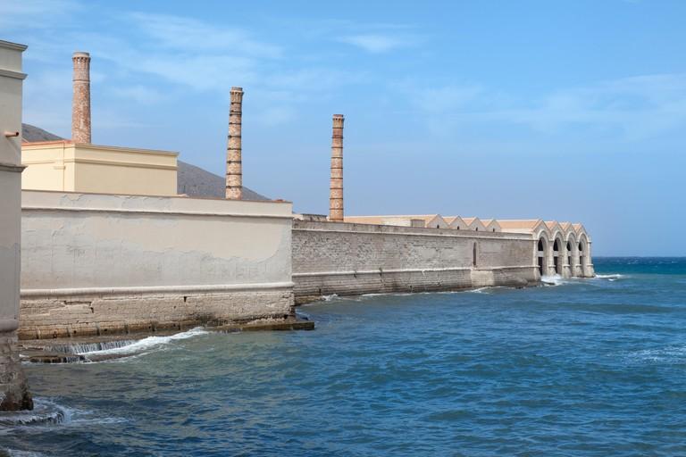 Former tuna factory on Favignana Island, Sicily
