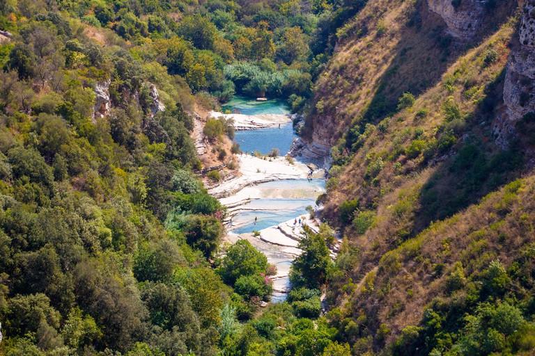 View of Laghetti di Cava Grande in Avola near Siracusa, Sicily F2HYWE
