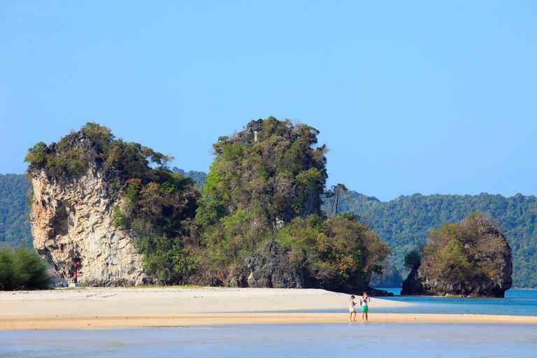 Thailand, Krabi, Ao Nang, Nopparat Thara Beach,
