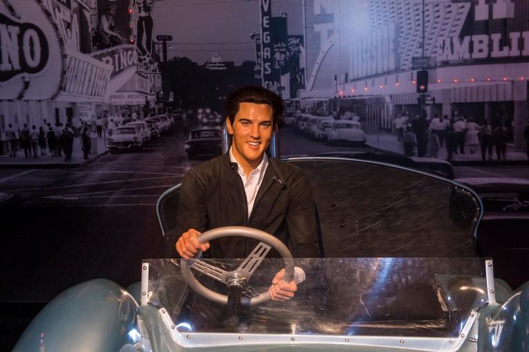A waxwork of Elvis Presley at The Madame Tussauds museum in Las Vegas