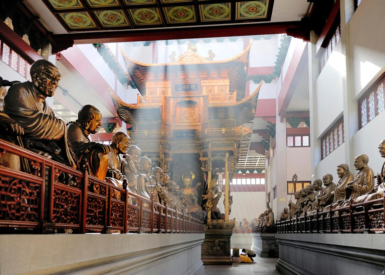 Inside Lingyin Temple, Hangzhou, Shandong Province, China