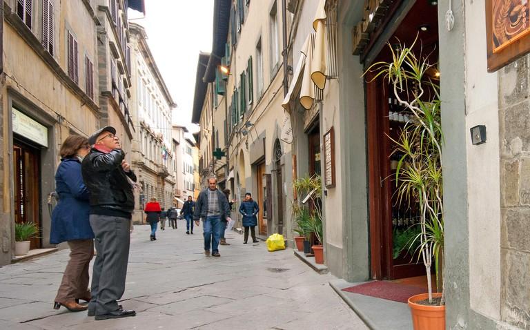Cortona, Via Nazionale, Tuscany, Italy. Image shot 11/2014. Exact date unknown.