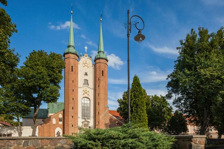 Archcathedral Basilica in Gdansk Oliwa, Poland.