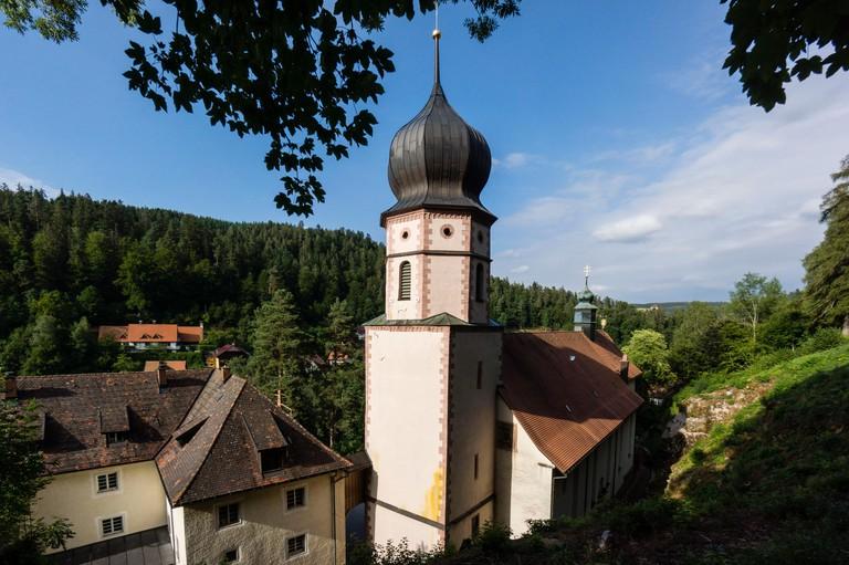 iglesia barroca Maria in der Tanne, del ano 1700, Triberg , Baden-Wurtemberg, distrito de Selva Negra-Baar, Alemania, Europe.