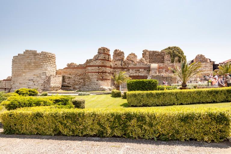 Remains of ancient fortress walls, Nessebar, Bulgaria