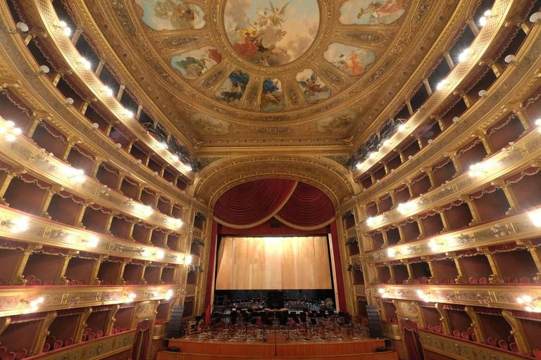 Massimo Theatre,interior Palermo, Sicily, Italy