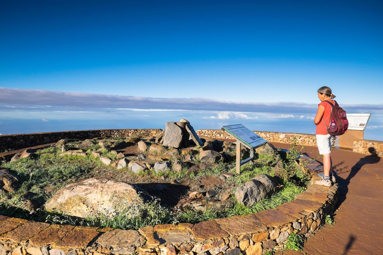 Spain, Canary Islands, La Gomera island declared a Biosphere Reserve by UNESCO, Garajonay National Park (Unesco World Heritage), hike to Alto de Garajonay, highest point of the island (alt : 1487m) and holy mountain of the ancient inhabitants