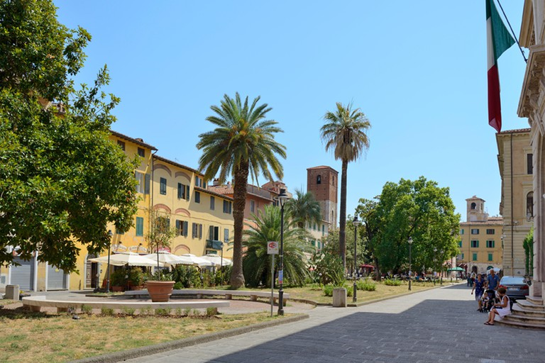Piazza Dante, Pisa, Toscana, Tuscany, Italy, Europe