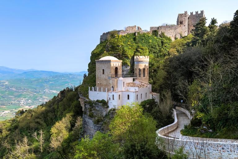 Erice, castle, Trapani, Sicily, Italy