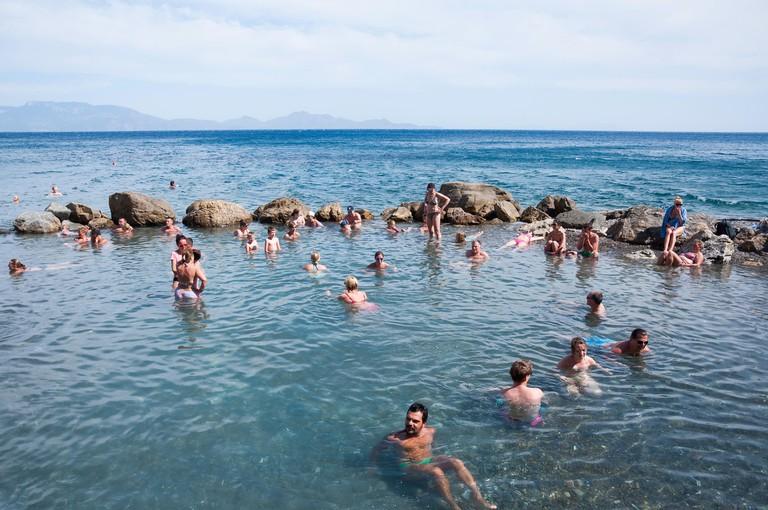 Therma Hot Springs, Therma Beach, Agios Fokas, Kos (Cos), The Dodecanese, South Aegean Region, Greece