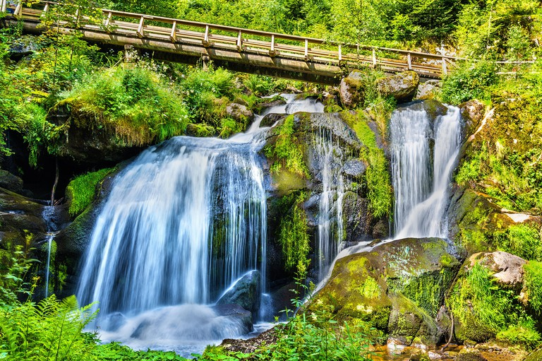 Triberg Falls, one of the highest waterfalls in Germany - the Black Forest region