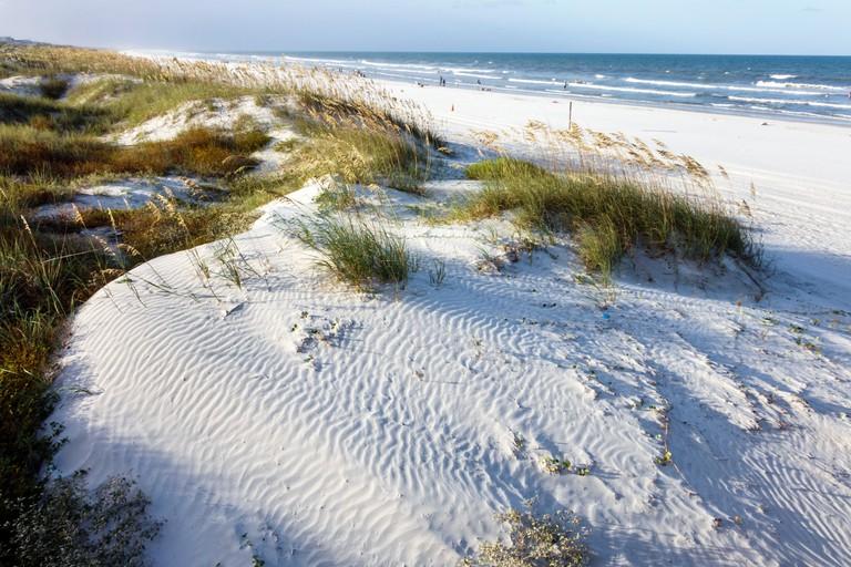 St Augustine Beach dunes in Florida, USA