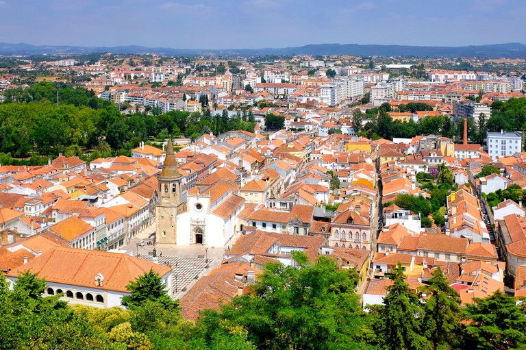 View of the old town of Tomar, Tomar, Portugal