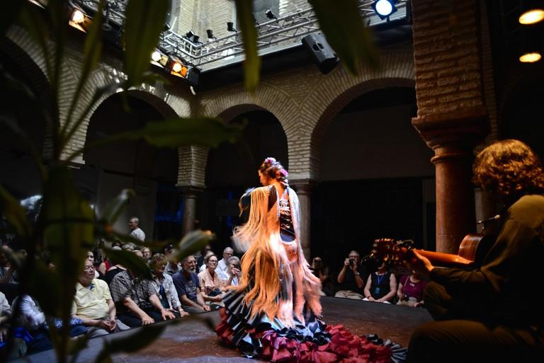 Flamenco show and tablao in Seville, Spain. Museo del Baile Flamenco.
