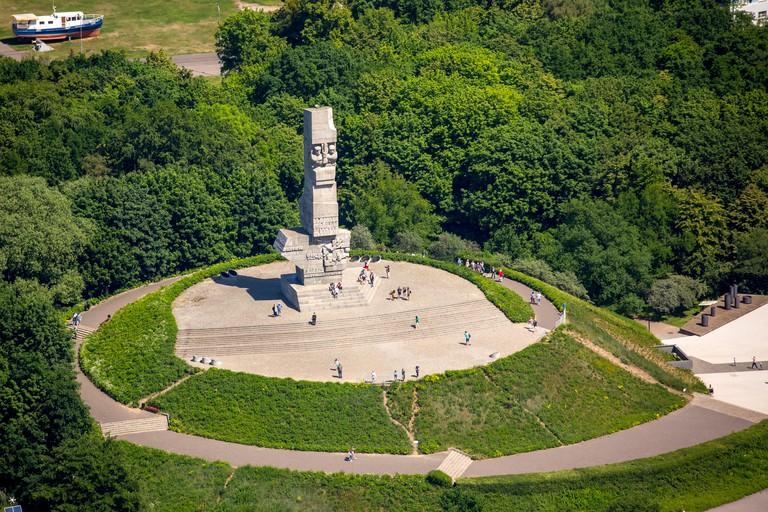 Westerplatte monument, Gdansk, Danzig, Baltic coast, Pomorskie, Poland