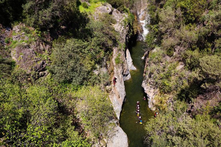 Water Adventure sport, Angosturas Guadalmina river. HYJRCC