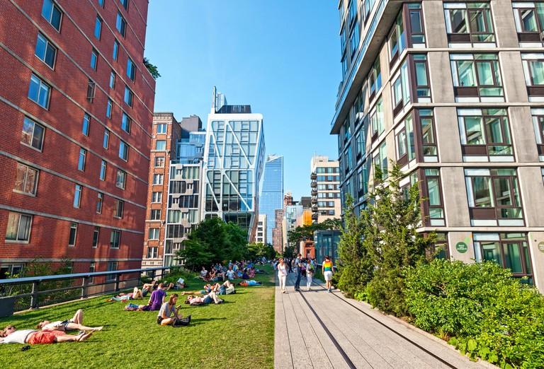 High Line New York City Chelsea Manhattan. Image shot 06/2016. Exact date unknown.