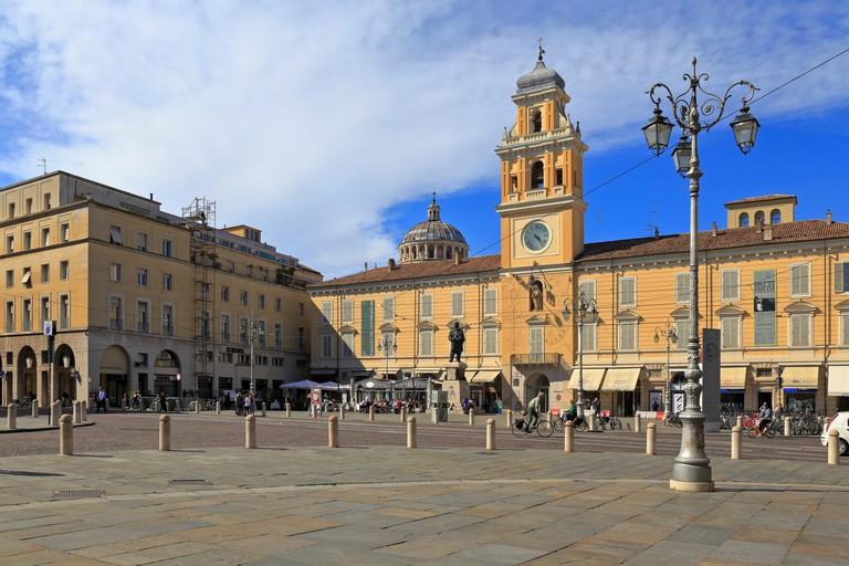 Governor's Palace, Palazzo del Governatore, Piazza Giuseppe Garibaldi, Parma, Emilia-Romagna, Italy, Europe.