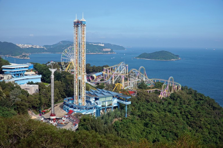 Just a portion of Hong Kong's enormous Ocean Park