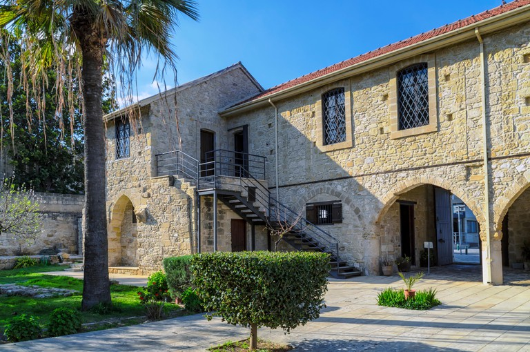 Larnaca Castle on Finikoudes boulevard in Cyprus