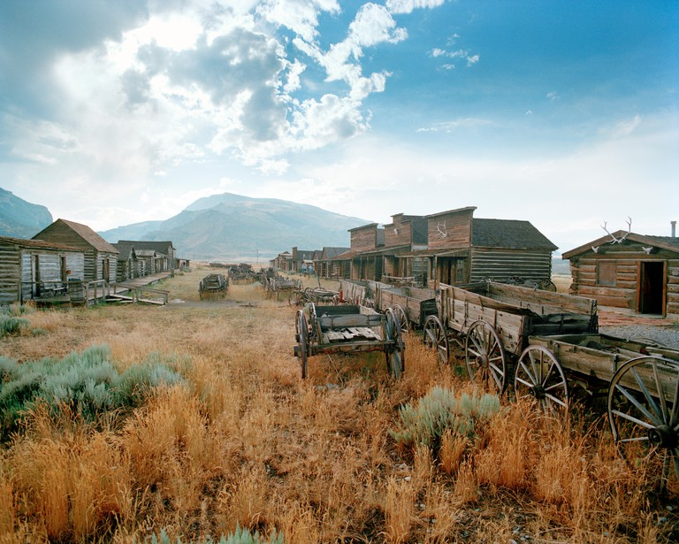 USA, Wyoming, Cody, Old Trail Town