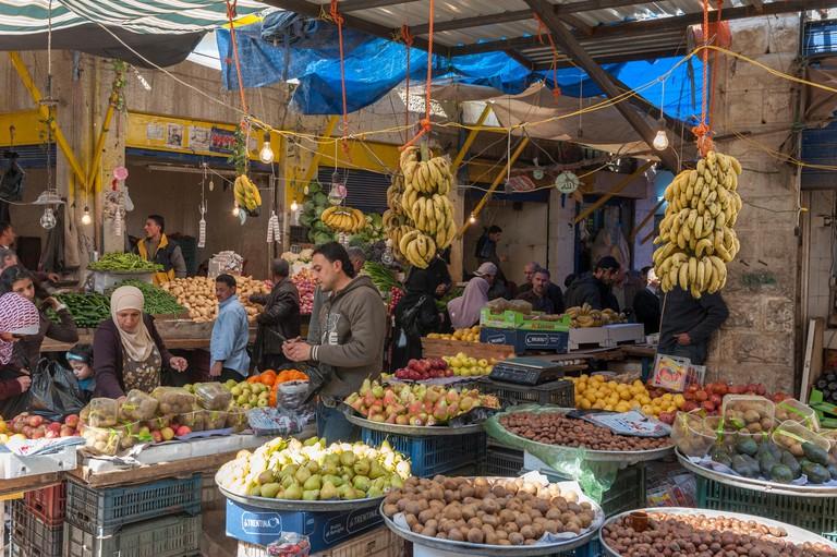 Vegetable market, Amman, Jordan, Middle East
