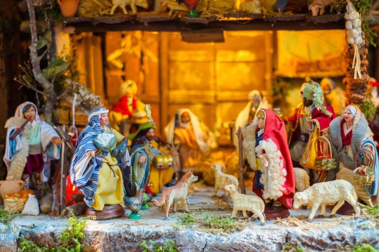 Via San Gregorio Armeno in Naples: street of the nativity scene makers