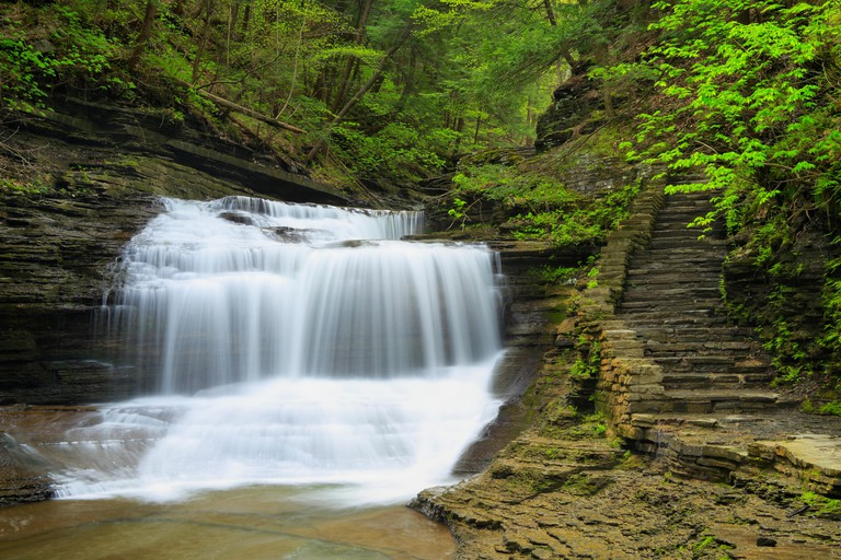 Buttermilk Falls State Park, Ithaca, Finger Lakes, New York, USA