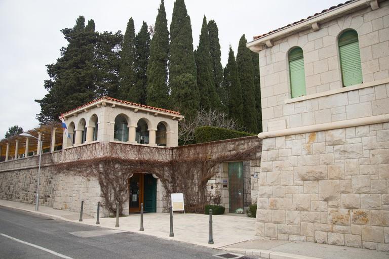 Entrance to Ivan Mestrovic Gallery in Split, Croatia