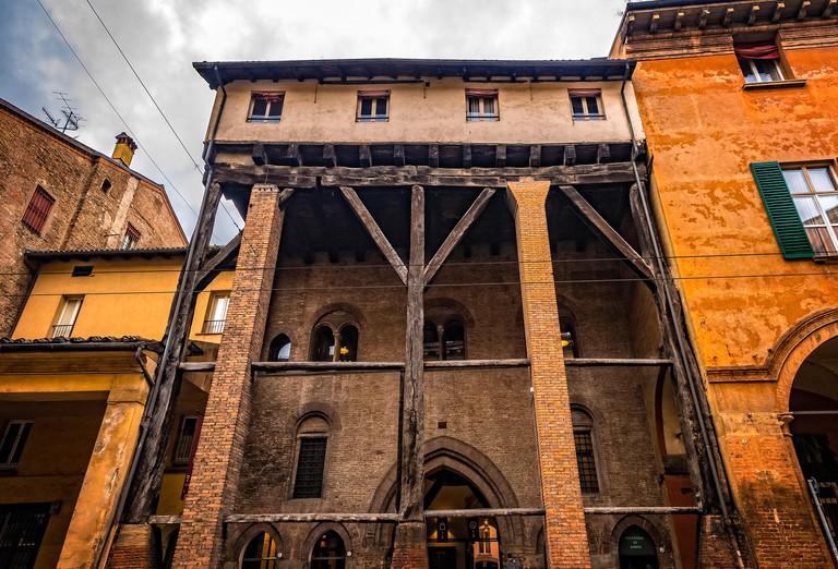 Italy Emilia Romagna Bologna Strada Maggiore arcades - Corte Isolani
