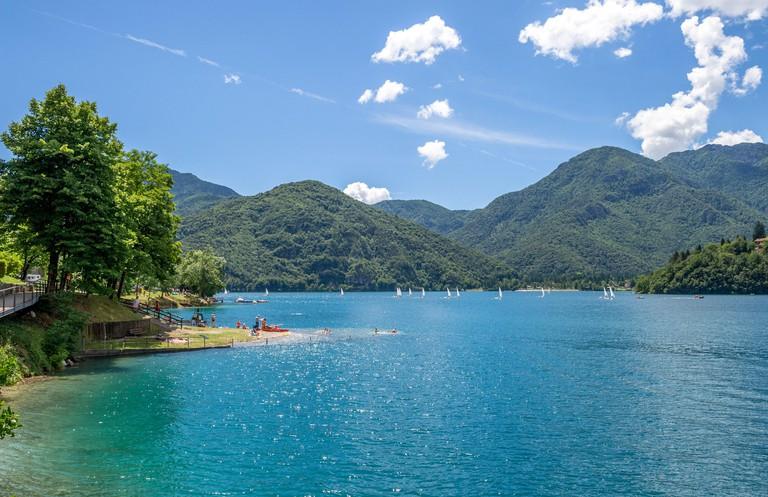 Lake Ledro in the Italian alps.