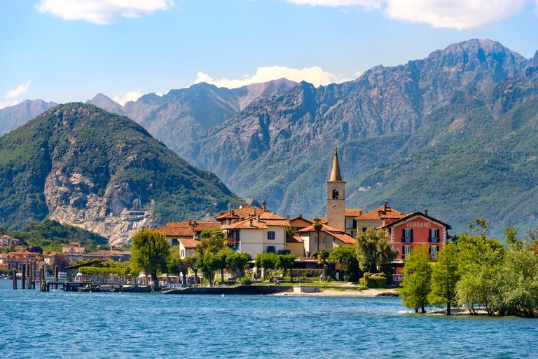 Isola dei Pescatori (Fishermen?s Island) on Lake Maggiore, Stresa village, Piedmont region, Italy