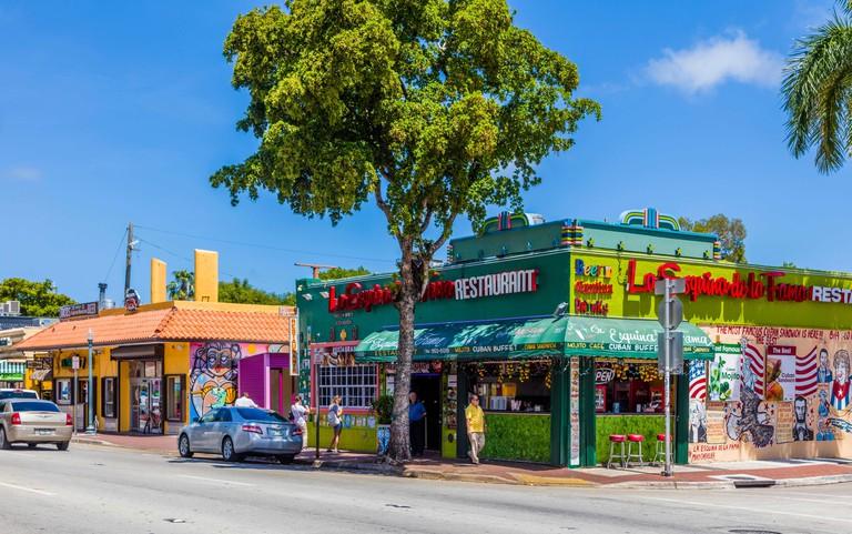 Cuban neighborhood of Little Havana in Miami Florida